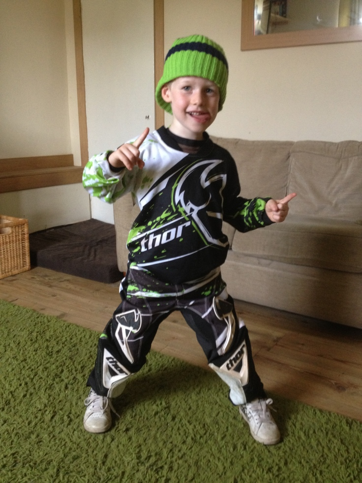 Cailean Galloway ready for downhill mountain biking in Fort William